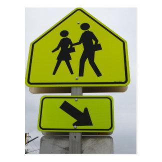 Pedestrian Sign Postcard