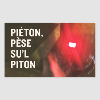 Pedestrian sticker, weighs su' L piton Rectangular Sticker