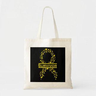 Pediatric Cancer Survivor Awareness Ribbon Bag