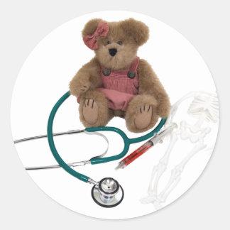 Pediatric care classic round sticker