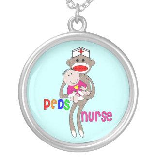 Pediatric Nurse Sterling Silver Necklace