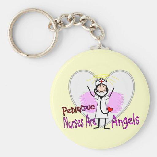 Pediatric Nurses are Angels Key Chains