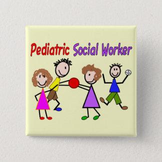 Pediatric Social Worker 15 Cm Square Badge
