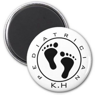 Pediatrician Baby Feet First & Last Initial Magnet