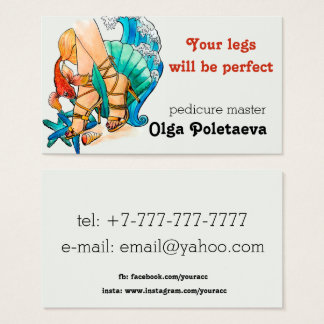 Pedicure Master Business Card