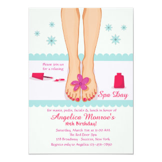 Pedicured Feet Invitation