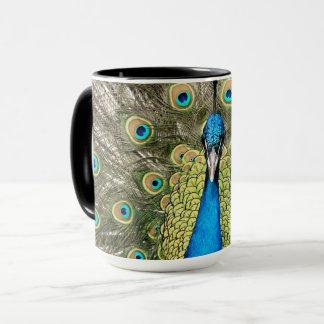 Pedro Peacock Feathers Colorful Wild Bird Peafowl Mug