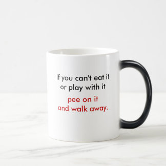 pee on it and walk away mug