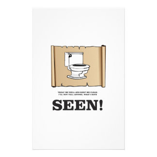 pee scroll funny stationery design