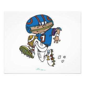 pee wee football kid running with football 11.5 cm x 14 cm flyer