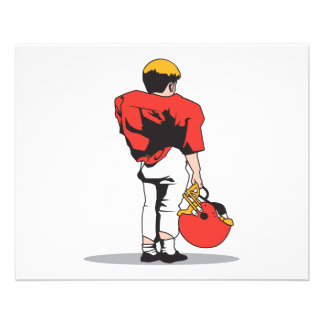 pee wee kids football player red 11.5 cm x 14 cm flyer