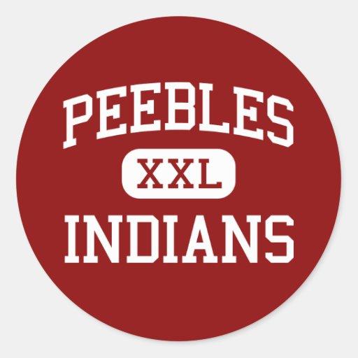 Peebles - Indians - High School - Peebles Ohio Sticker