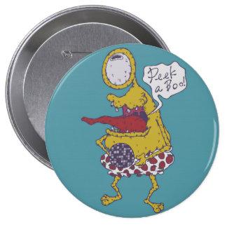 Peek a Boo! 10 Cm Round Badge