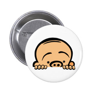 Peek a boo baby 6 cm round badge