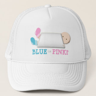Peek-a-Boo Baby Booties Gender Reveal Trucker Hat