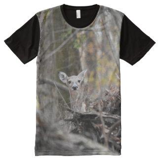 Peek a boo Deer All-Over Print T-Shirt