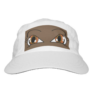 Peek A Boo Eyes Brown Hat