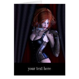 Peek A Boo Gothic Fantasy Card