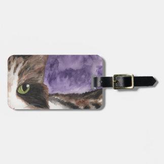 Peek a Boo Kitty Luggage Tag