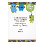 "Peek a Boo MONSTERS Thank You 3.5""x5"" PABC (FLAT) Personalised Invitations"