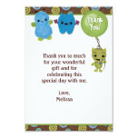 """Peek a Boo MONSTERS Thank You 3.5""""x5"""" PABC (FLAT) Personalised Invitations"""
