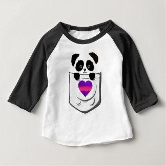 Peek-A-Boo Panda Bear Baby T-Shirt