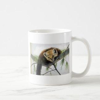 Peek-a-boo, Pine Marten Coffee Mug