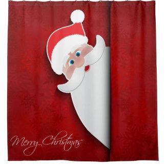 Peek-A-Boo Santa Claus Shower Curtain