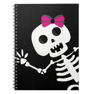 peek a boo skeleton notebooks