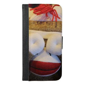 Peek-a-boo Sock Monkey iPhone 6/6s Plus Wallet Case