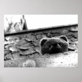 Peek a Boo Teddy Bear Poster