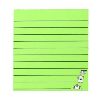 Peek-A-Boos Notepad