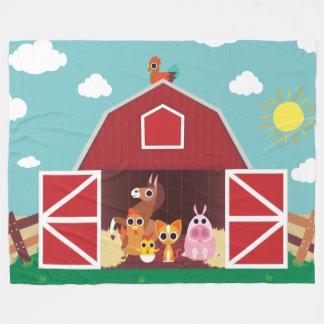 Peekaboo Barn Daytime Landscape Group 1 Fleece Blanket
