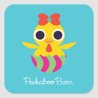 Peekaboo Barn Easter | Bayla the Chick Square Sticker