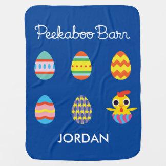 Peekaboo Barn Easter | Easter Eggs Buggy Blanket