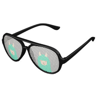 Peekaboo Happy Llama Emoji Sunglasses