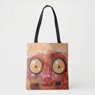 Peekaboo Lemur Painting Tote Bag
