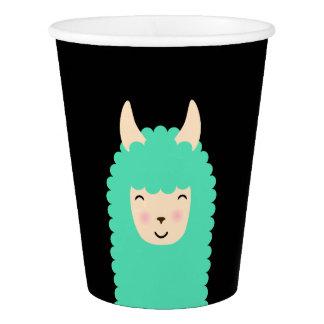 Peekaboo Llama Emoji Paper Cup