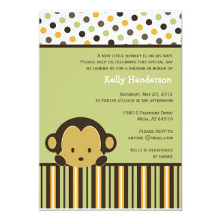 Peekaboo Monkey Invitation