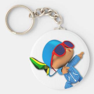 peekaboo number 1 superstar key chain