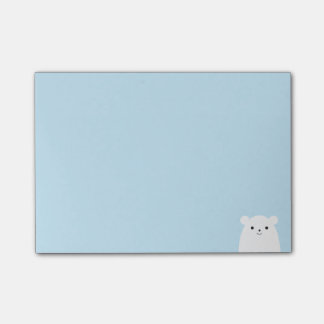 Peekaboo Polar Bear Post-it Notes