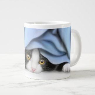 Peekaboo Tuxedo Kitten Specialty Mugs