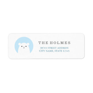 Peekboo Polar Bear Holiday Address Return Label Return Address Label