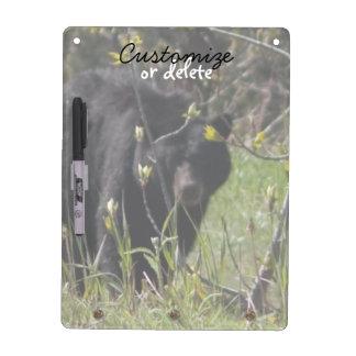 Peeking Bear; Customizable Dry Erase Board