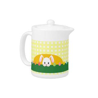 Peeking Bunny Tea Pot