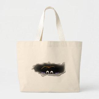 Peeking Creature Tote Bags
