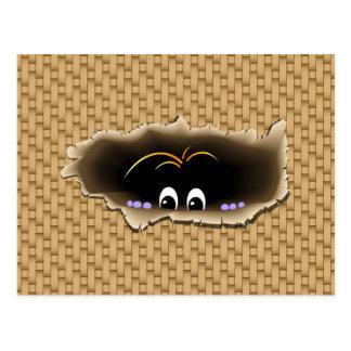 Peeking Creature Post Card