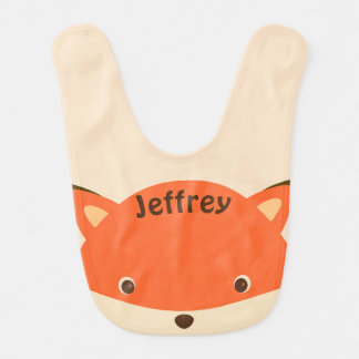 Peeking Fox Bib