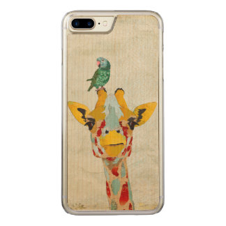 PEEKING GIRAFFE & PARROT Carved iPhone Carved iPhone 7 Plus Case