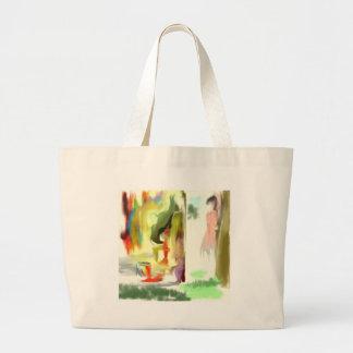 Peeking Graffiti Bunny Tote Bags